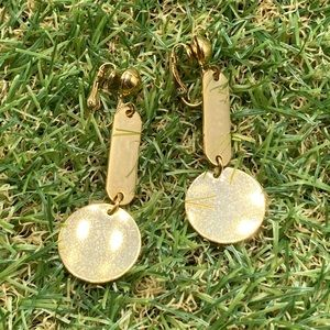 Vintage artisan gold abstract shapes